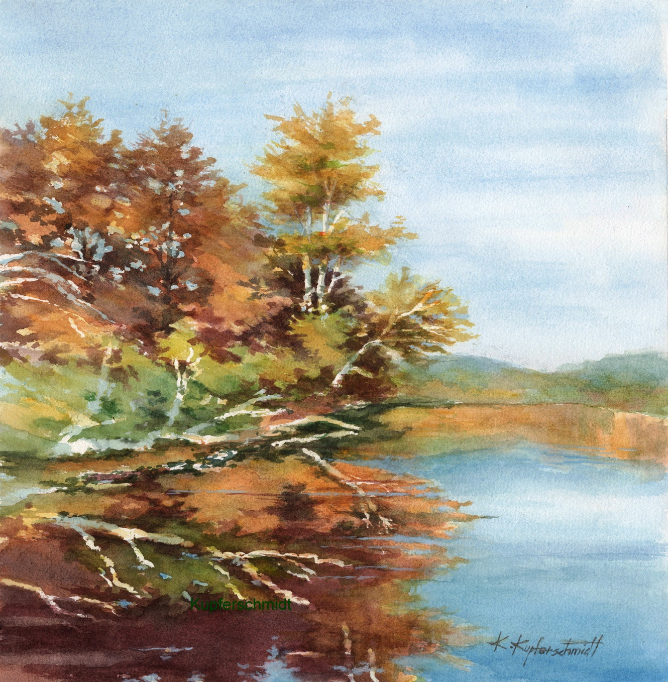Kupferschmidt - Autumn Lake Shamineau 21x20 325