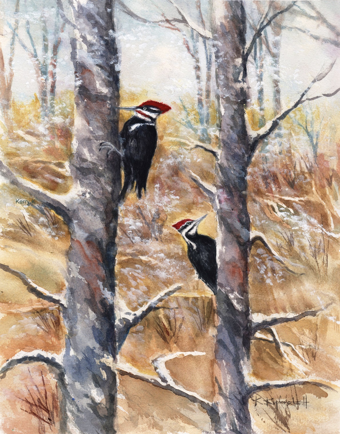 Kupferschmidt - Pileated Couple 19x23 225.jpg