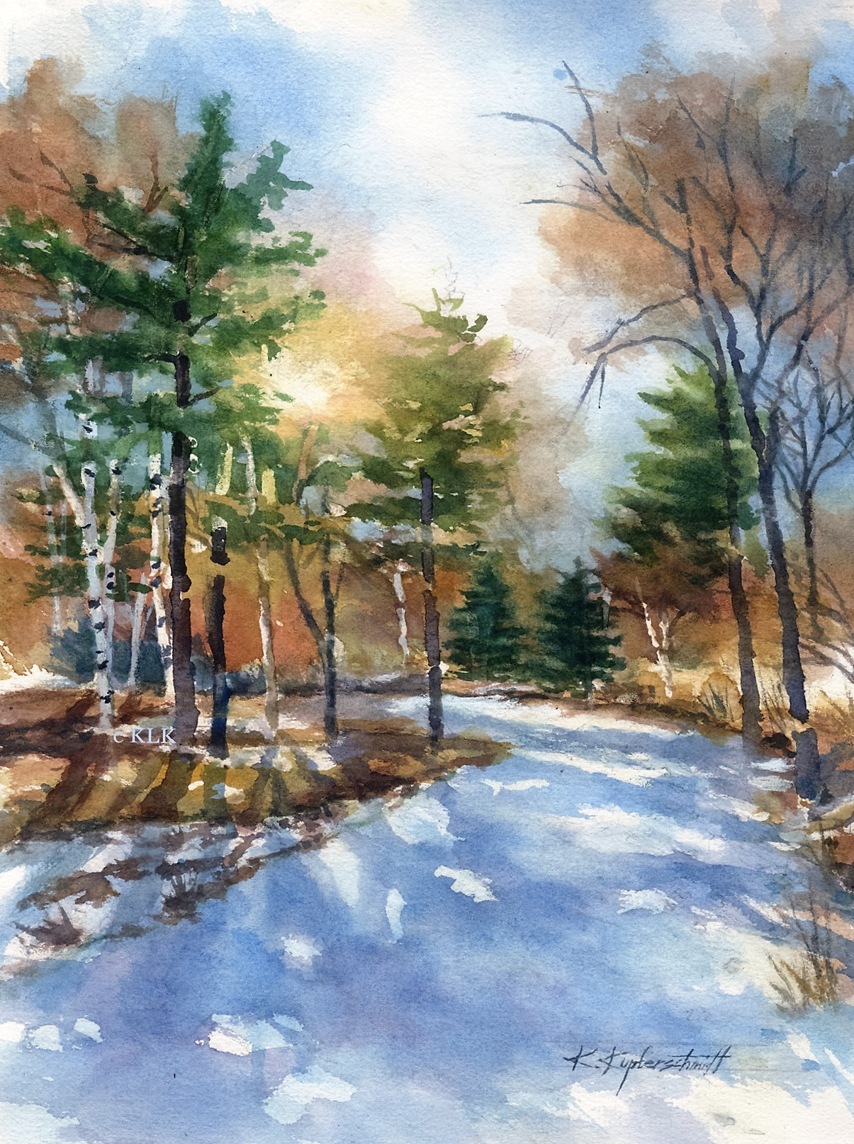 Kupferschmidt - Winter Departs 19 x 23 $325