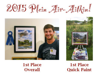 Aitkin Plein Air Quick Paint 1st place, July 2015