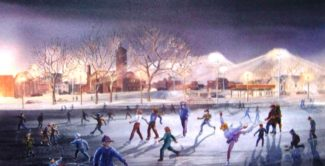 Korte - Lake George Skating Party print