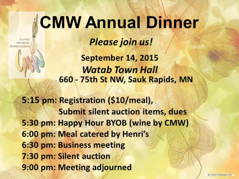 CMW Annual Dinner Invitation 2015