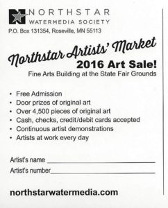 Artist Market card 2016 back